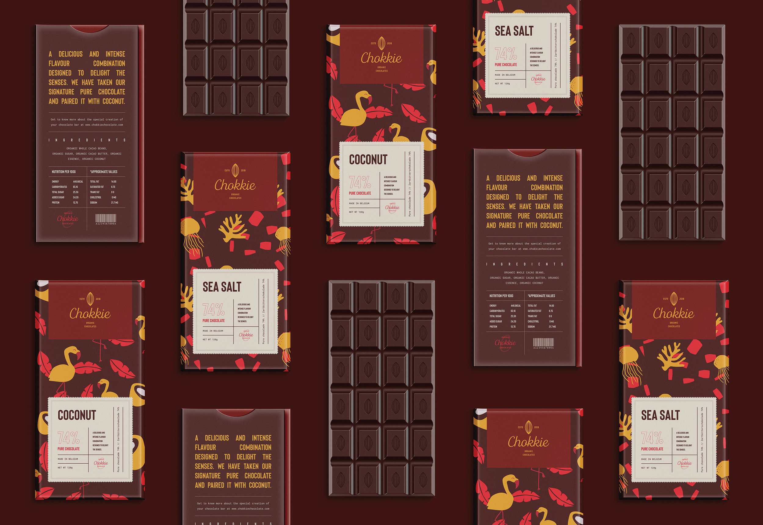 Brand Identity for Chokkie Organic Chocolates / World Brand Design Society