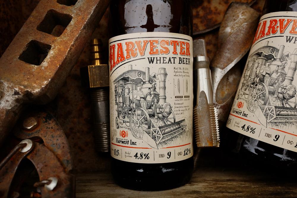 Wheat Beer Label Design for OAO «TOMSKOYE PIVO» / World Brand Design Society