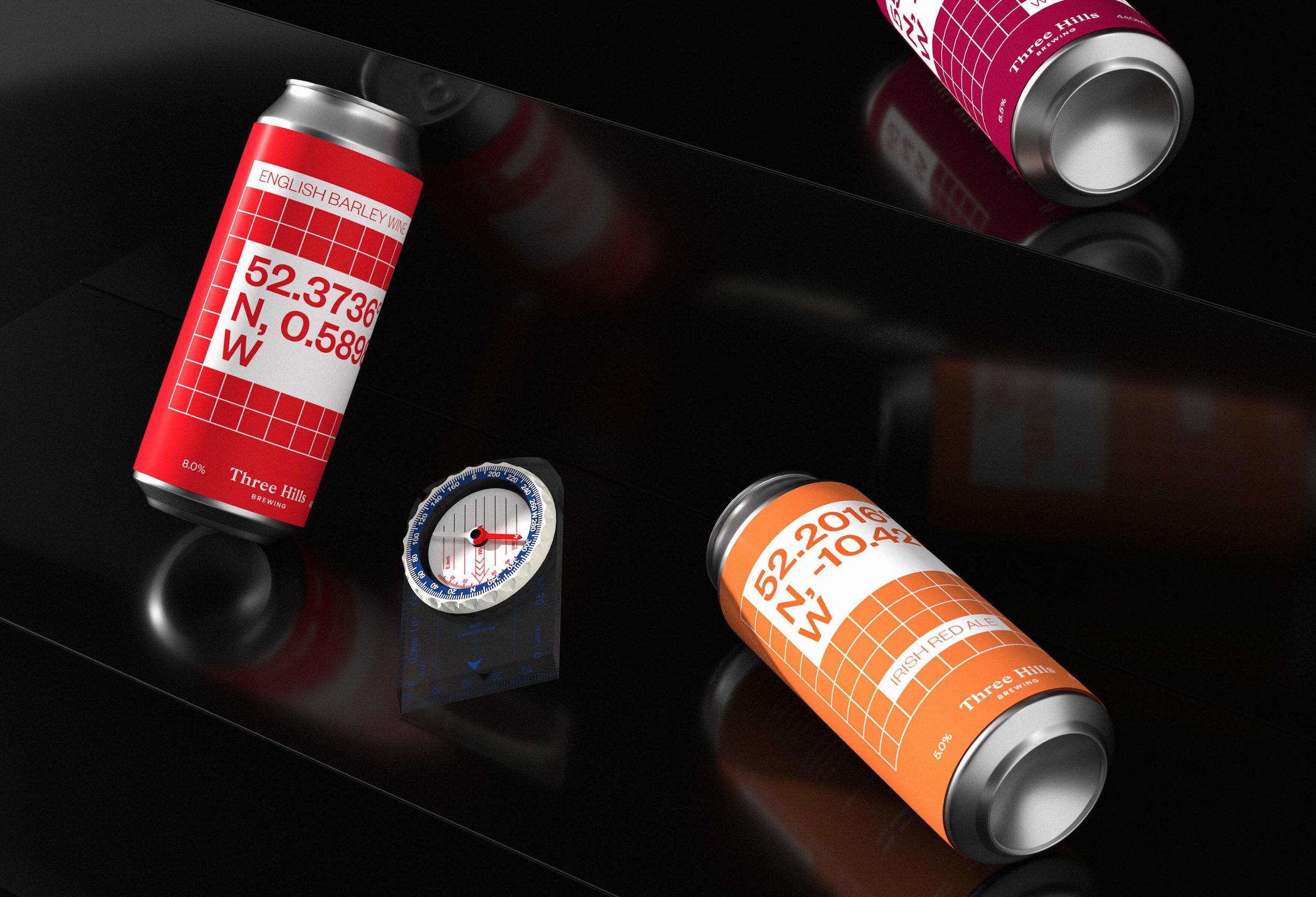 Three Hills Brewing Beer Cans Design / World Brand Design Society