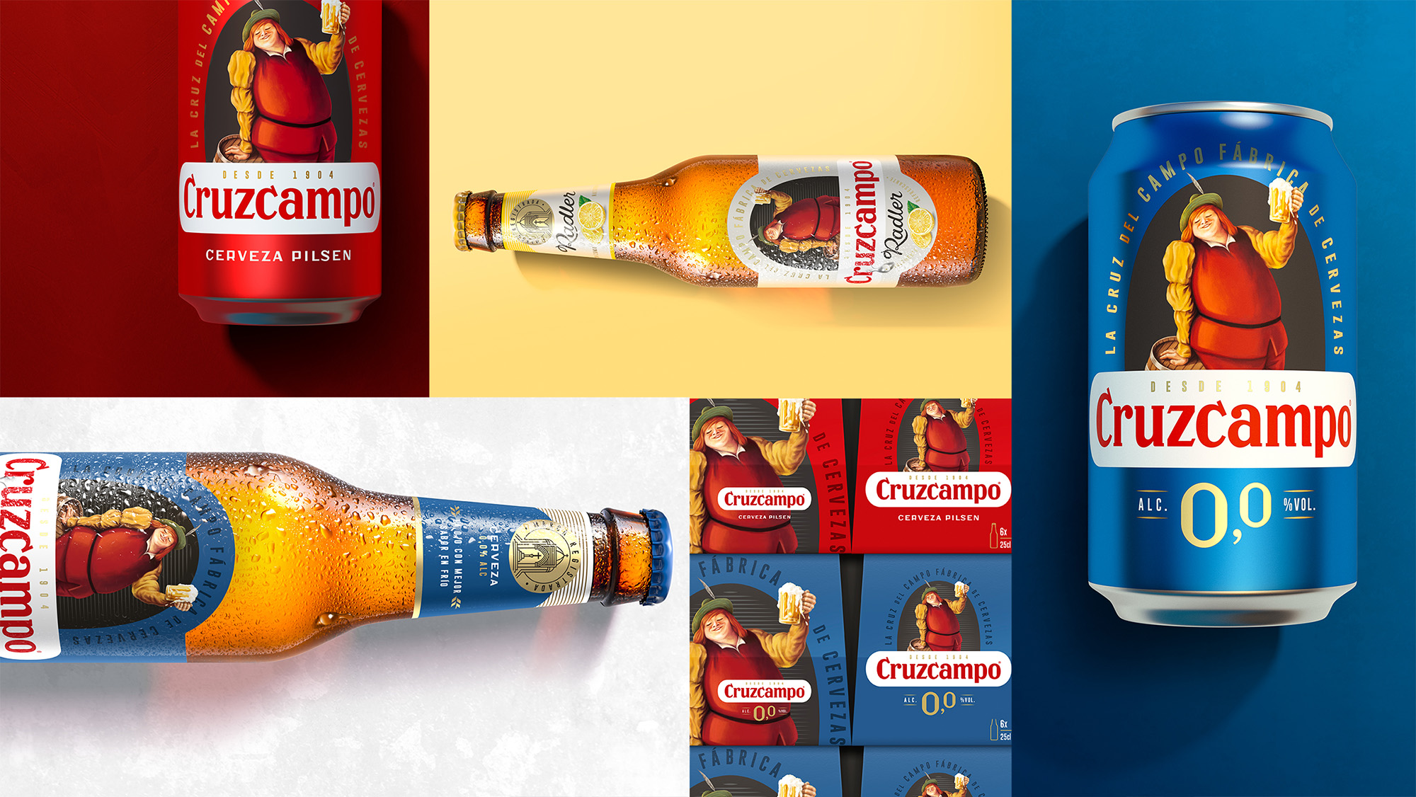 Cruzcampo Rediscovers Its Historic Character with New Brand Visual Identity by Bulletproof / World Brand Design Society