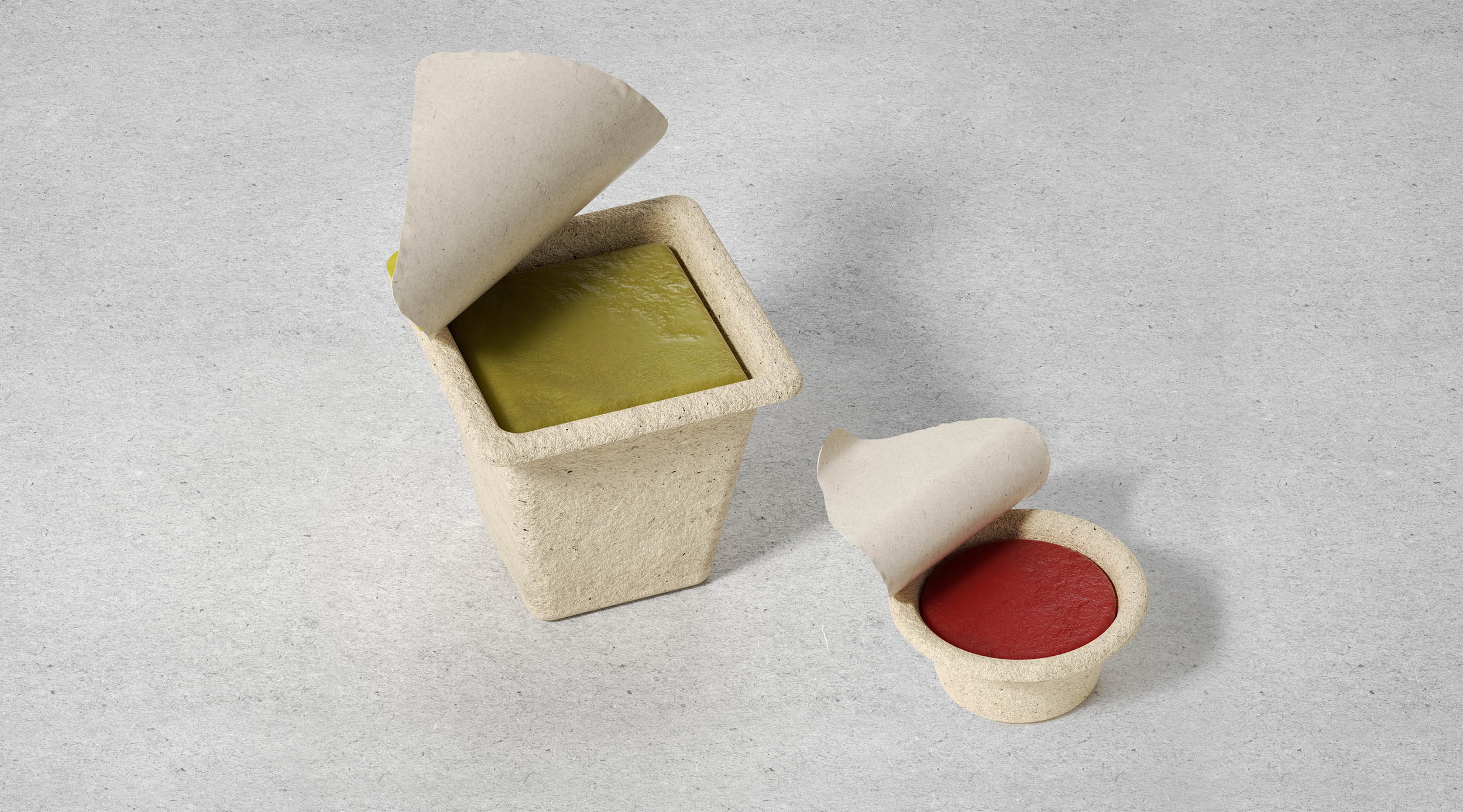 Solid Shampoo and Hair Balsam in Recycled Paper Packaging / World Brand Design Society