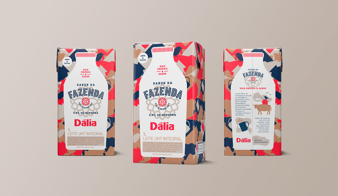 Concept, Visual Language and Packaging Design for 'Dália Sabor' da Fazenda  Dairy Products / World Brand Design Society