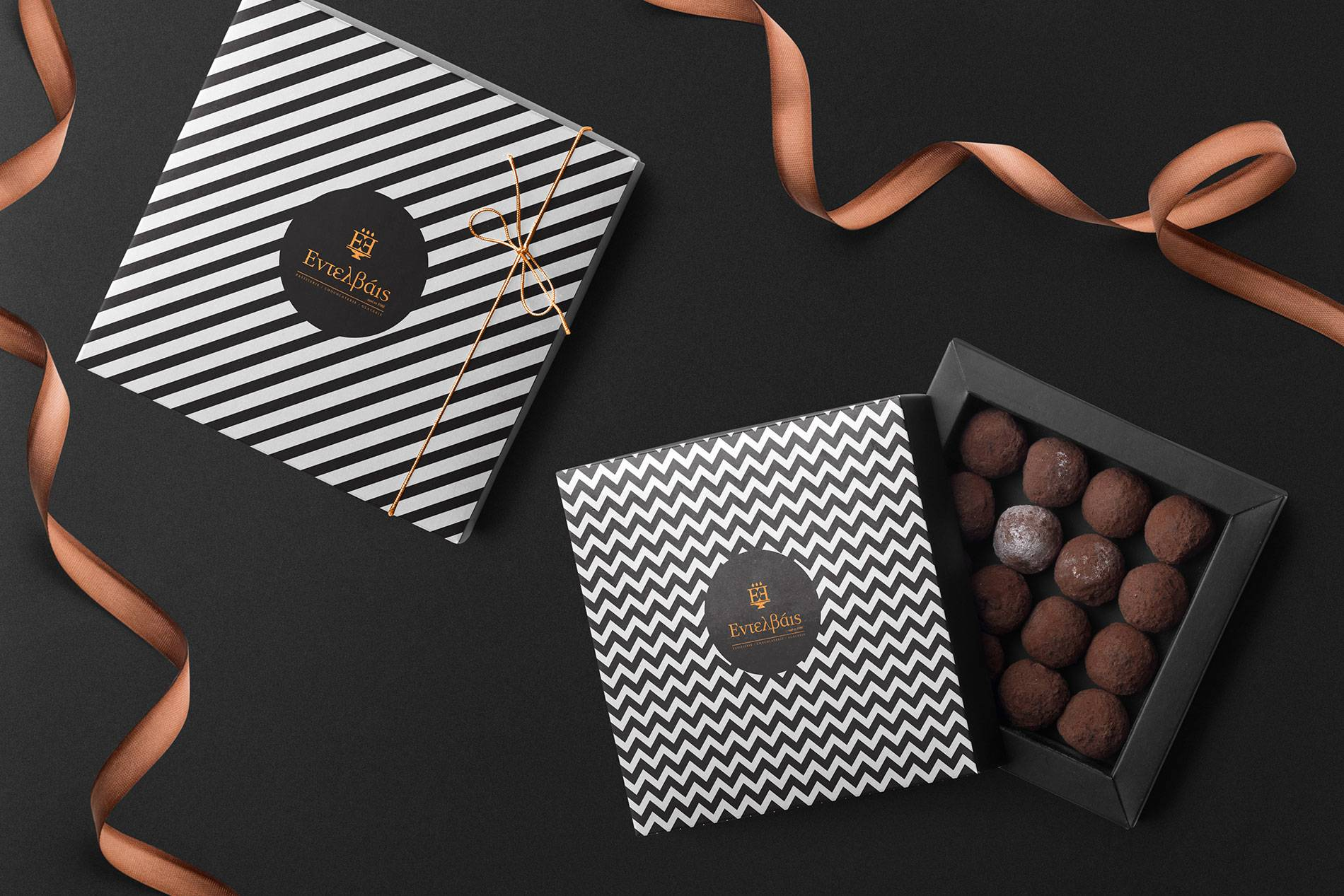 The Rebranding and Packaging for the Entelvais Patisserie, from Greece / World Brand Design Society