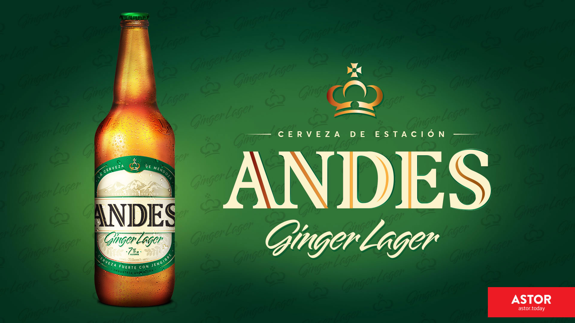 Andes Ginger Lager Beer, The Hops Road / World Brand Design Society