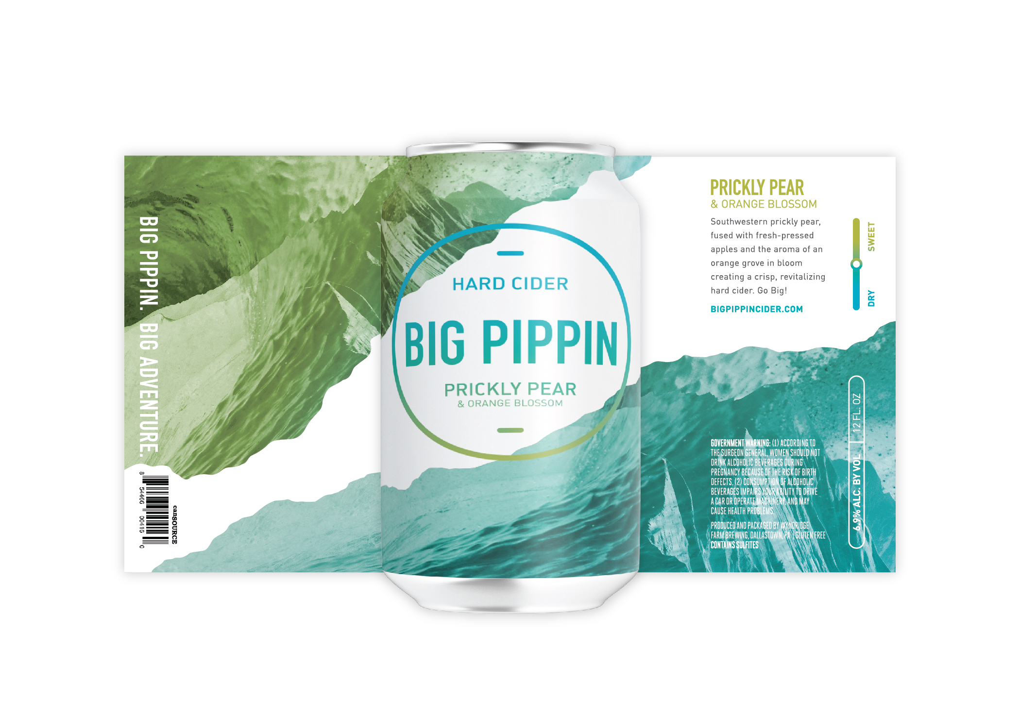 Big Pippin Hard Cider Branding and Package Design / World Brand Design Society