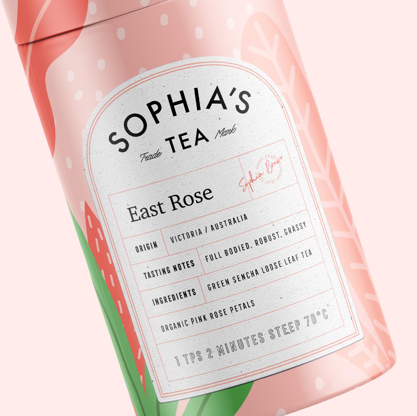 Branding and  Packaging Design for Sophia's Tea / World Brand Design Society