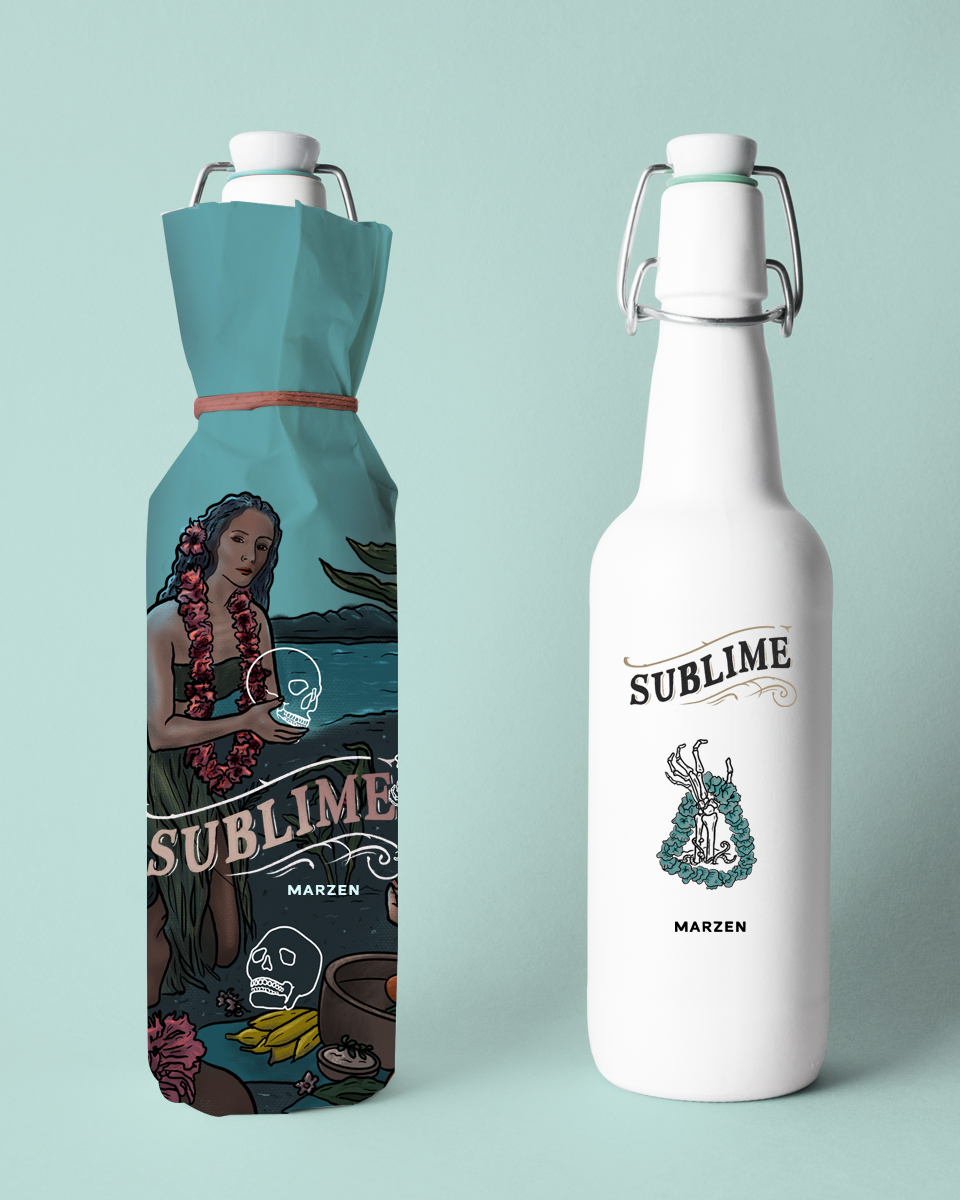 Concept Illustration and Packaging Design for a Sublime IPA&Marzen / World Brand Design Society