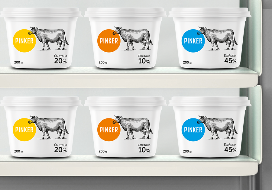 Pinker Dairy Products Packaging Design / World Brand Design Society