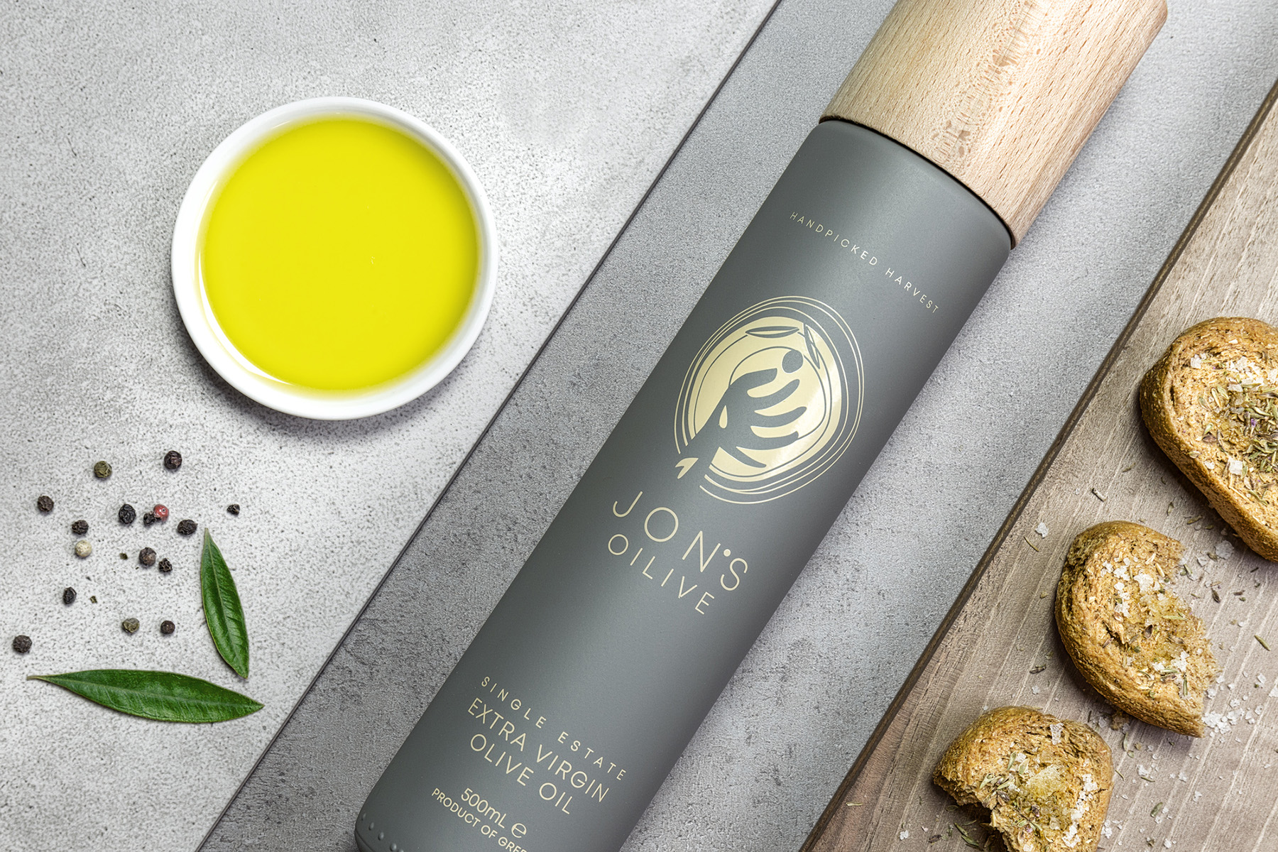 Jon's Oilive Olive Oil Packaging Design / World Brand Design Society