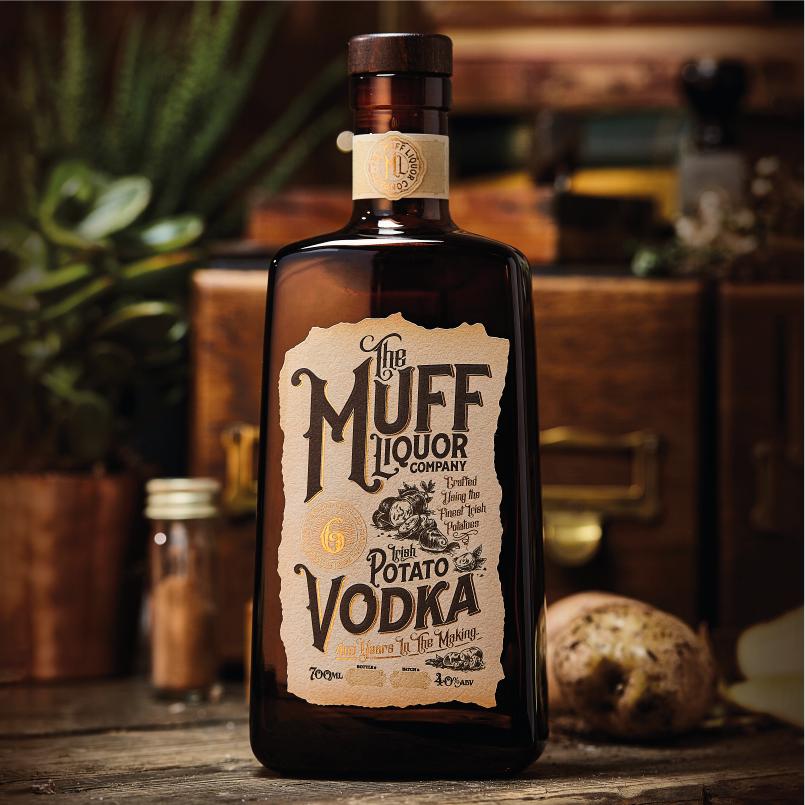 Branding and Packaging Design for The Muff Liquor Companys Potato Based Vodka / World Brand Design Society