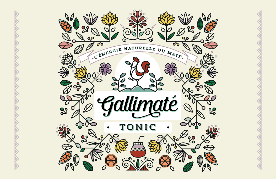Floral Label Design for Healthy Soft Drinks from France / World Brand Design Society