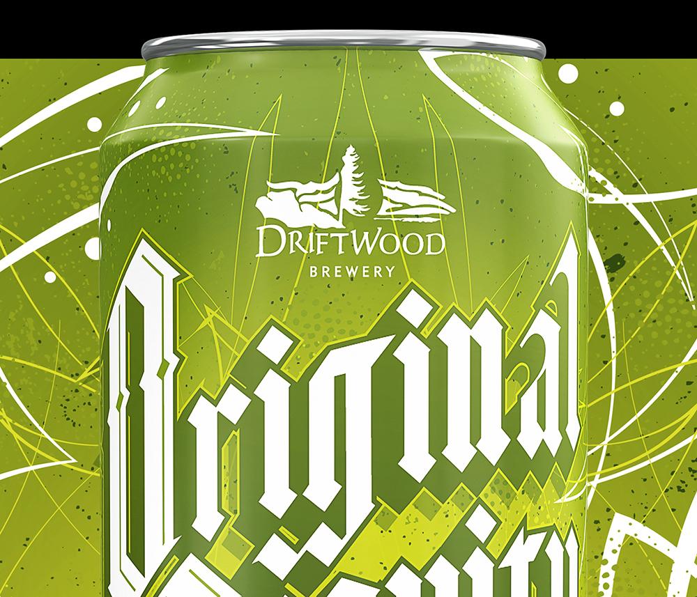 Packaging Design for Driftwood's Original Gravity Hazy IPA / World Brand Design Society