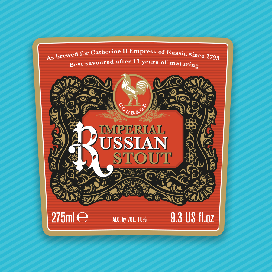 Modern Product Labelling that Reflects the History and Heritage of an Annually Brewed Imperial Russian Stout / World Brand Design Society