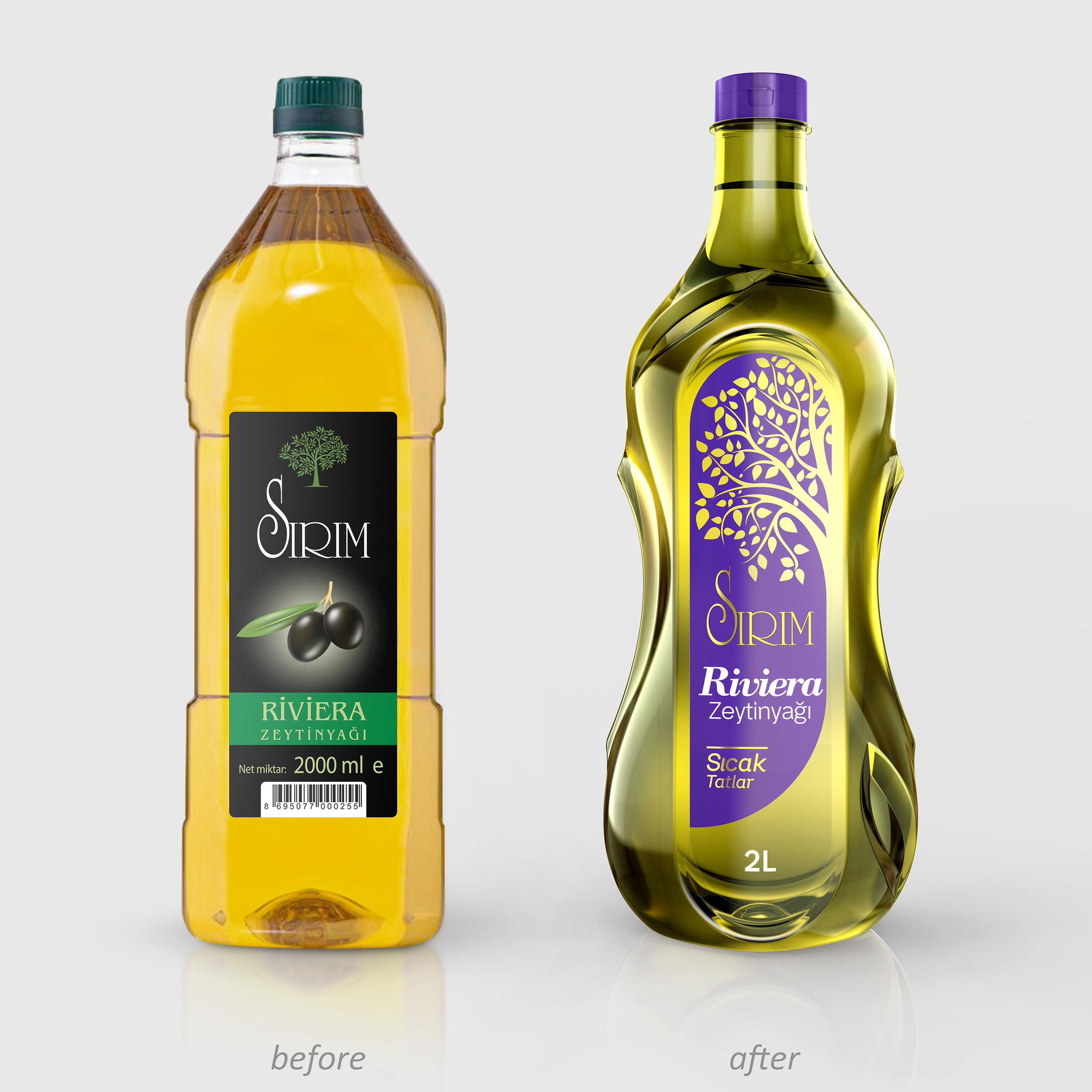 Sirim Olive Oil Private Label Packaging Design And Rebranding From Turkey / World Brand Design Society
