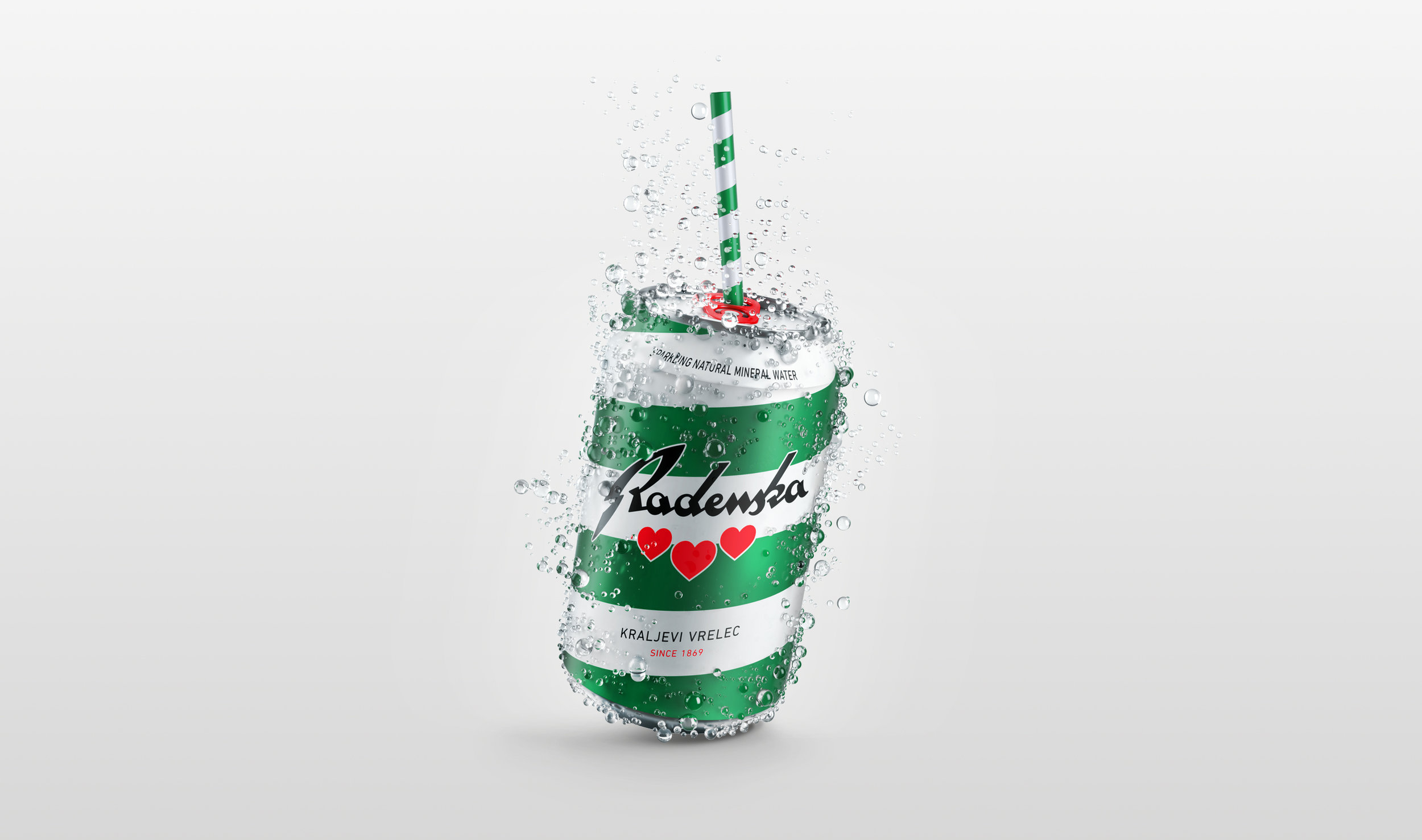 Sparkling Mineral Water Radenska in a Can / World Brand Design Society