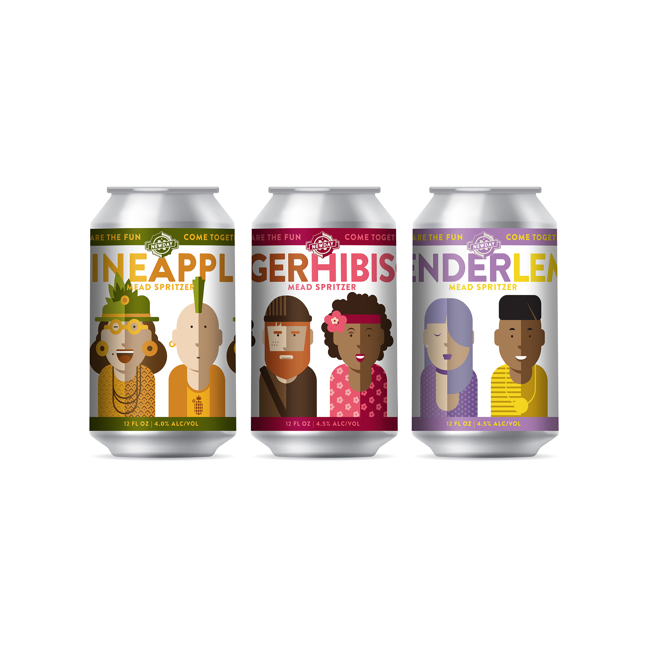 Branding and Can Designs for New Line of Mead Spritzers for NewDay Craft Mead and Cider / World Brand Design Society