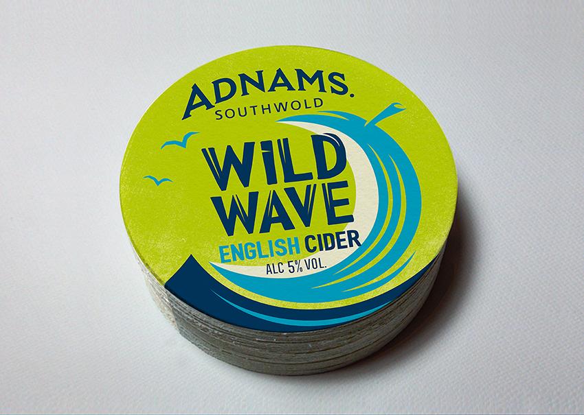 New craft Cider Adnams Wild Wave / World Brand Design Society
