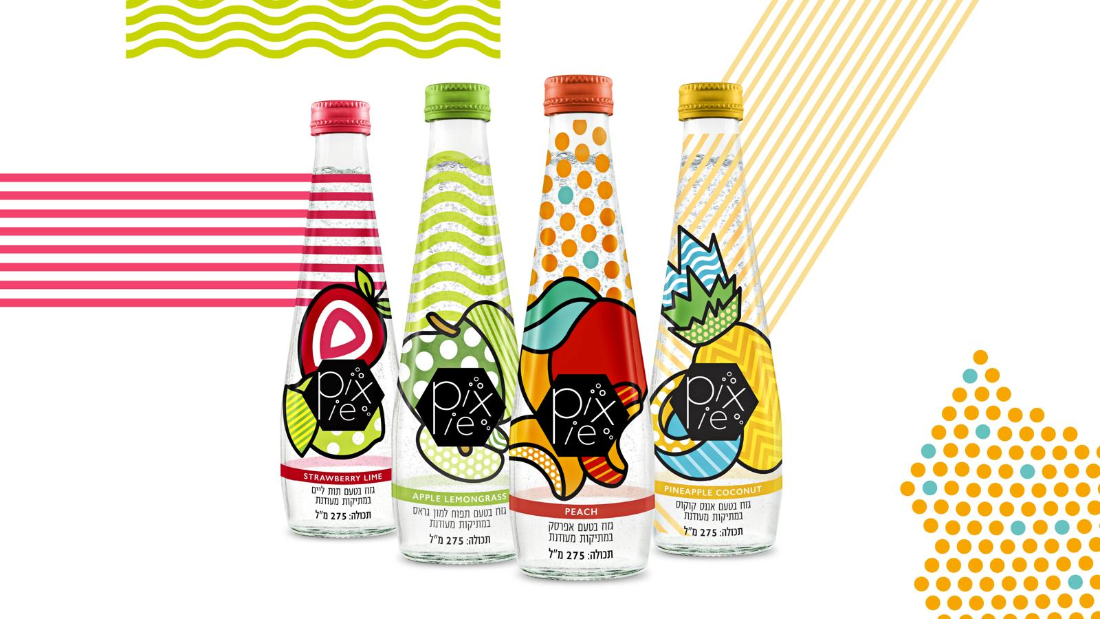 Package Design for Sparkling Water Brand Pixie / World Brand Design Society