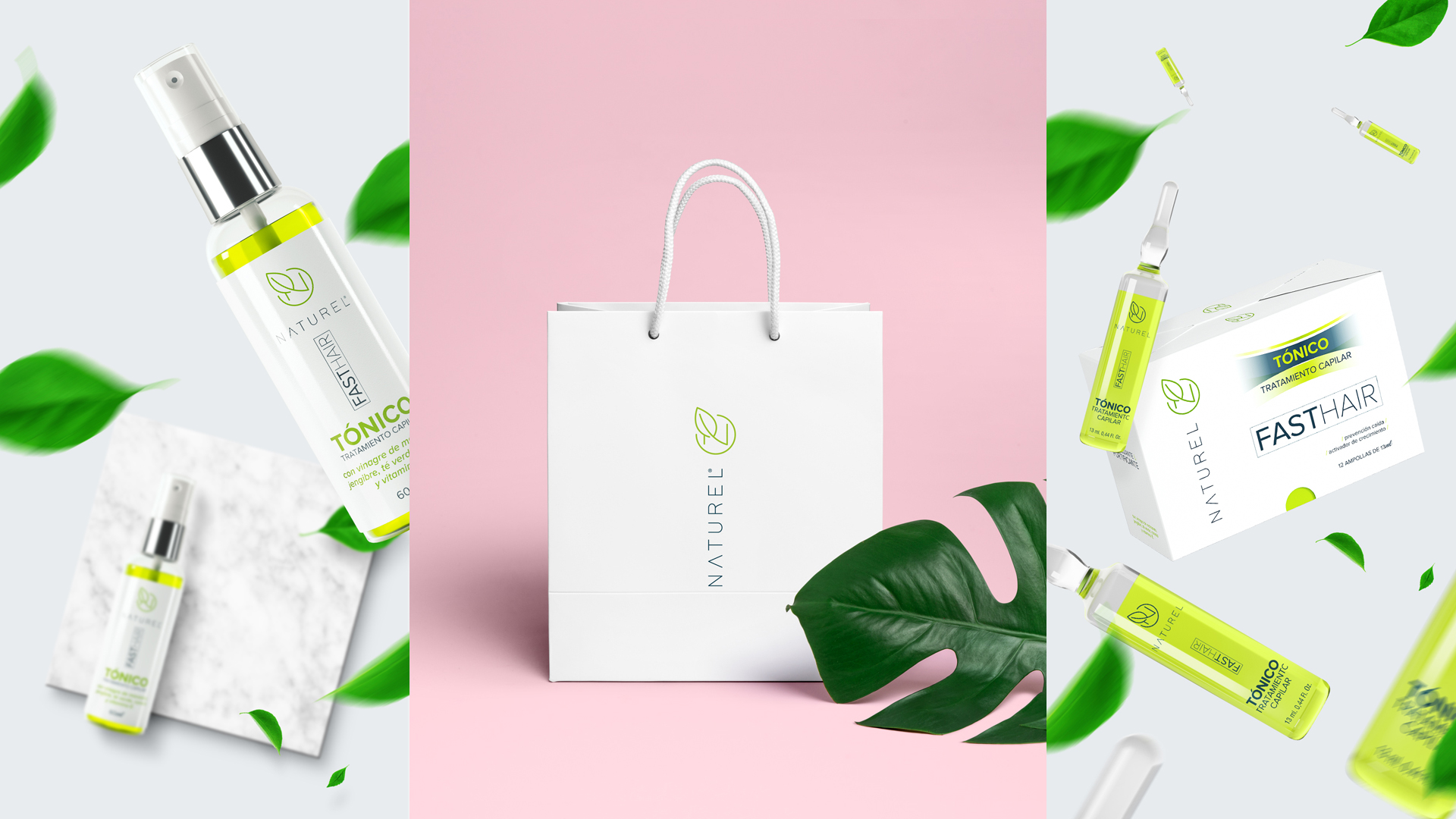 Packaging Design for Naturel Fasthair Products / World Brand Design Society