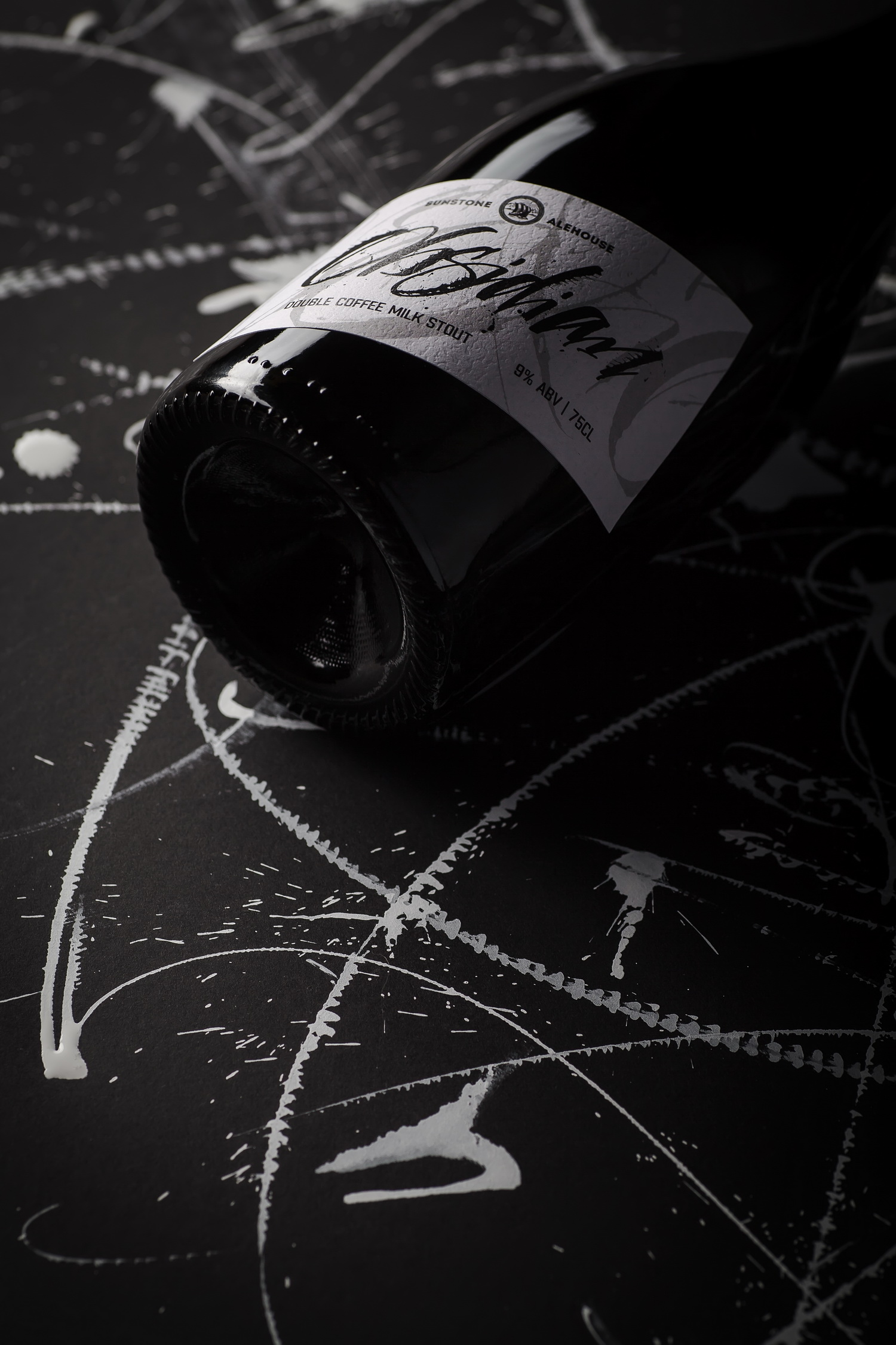 Calligraphic Craft Beer Label - Obsidian / World Brand Design Society