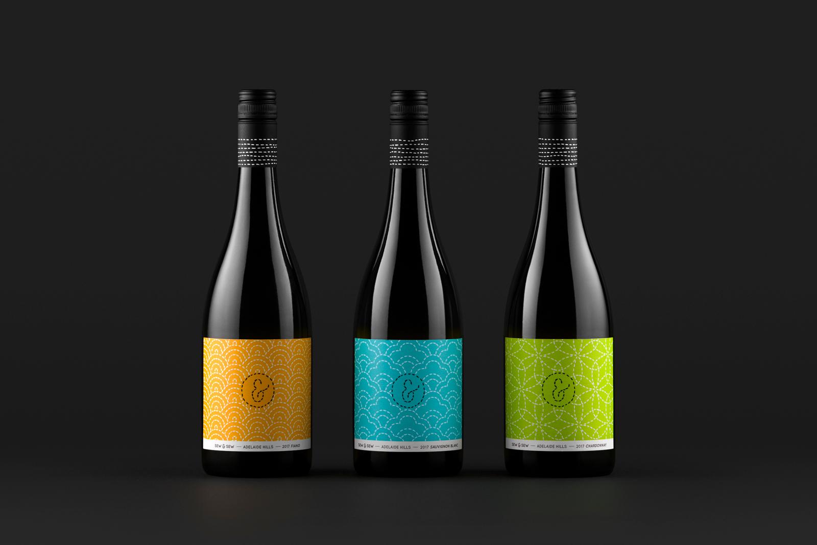 Sew & Sew Wines, Sashiko Series / World Brand Design Society