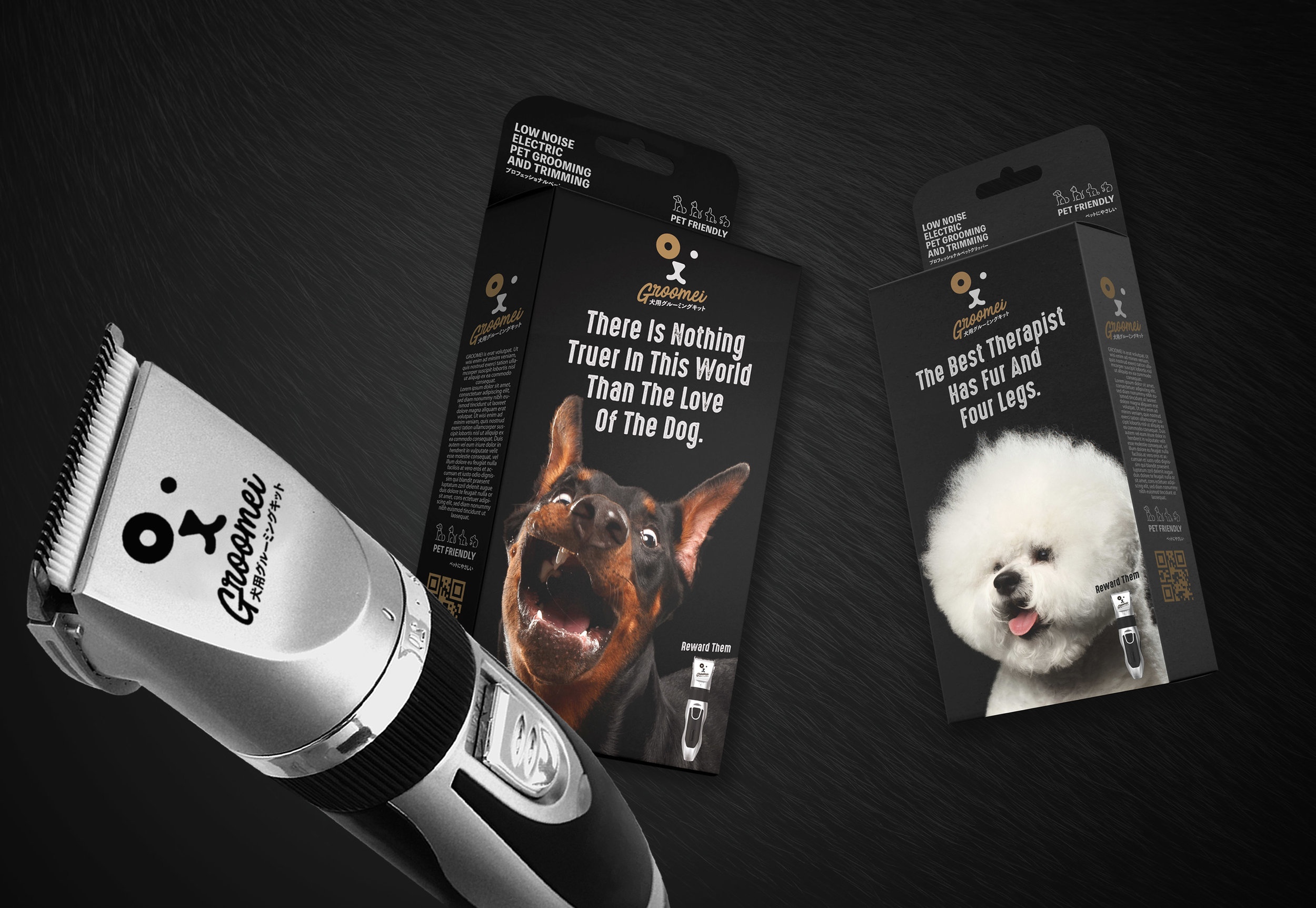 GROOMEI Pet Grooming Kit Packaging BRAND DESIGN World Brand Design
