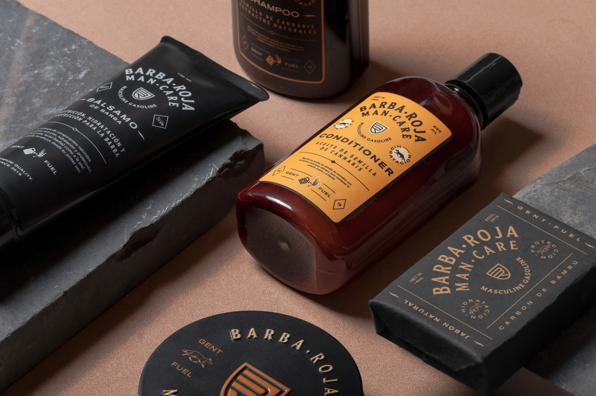 Branding Development and Packaging Design for Barba Roja Man