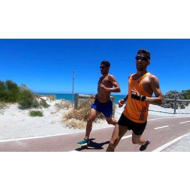 Gearing up for another dark winter's morning run... training days in the summer sun with @notanotheraveragejoe seem a long time ago.  #running #training #instarunners #teamfrontrunner #triathlon #ironman #swimbikerun