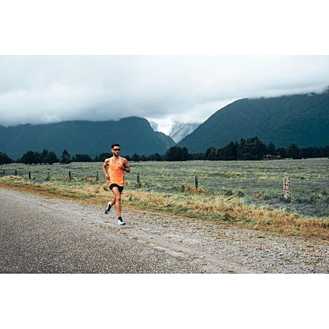 Throwing it back to Easter in New Zealand and laying the groundwork for the big run kms this year. Unfortunately the clouds rolled in and blocked the view of the glacier... still stunning though!  #lakematheson #foxglacier #newzealand #running #ironman #triathlon #swimbikerun