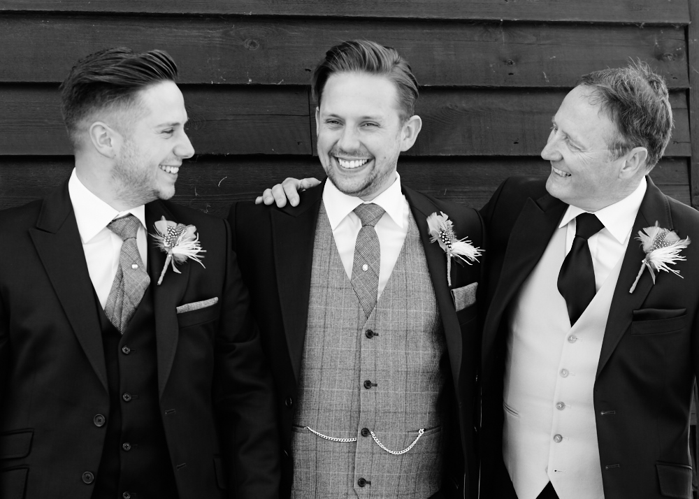 bestman, groom and father.