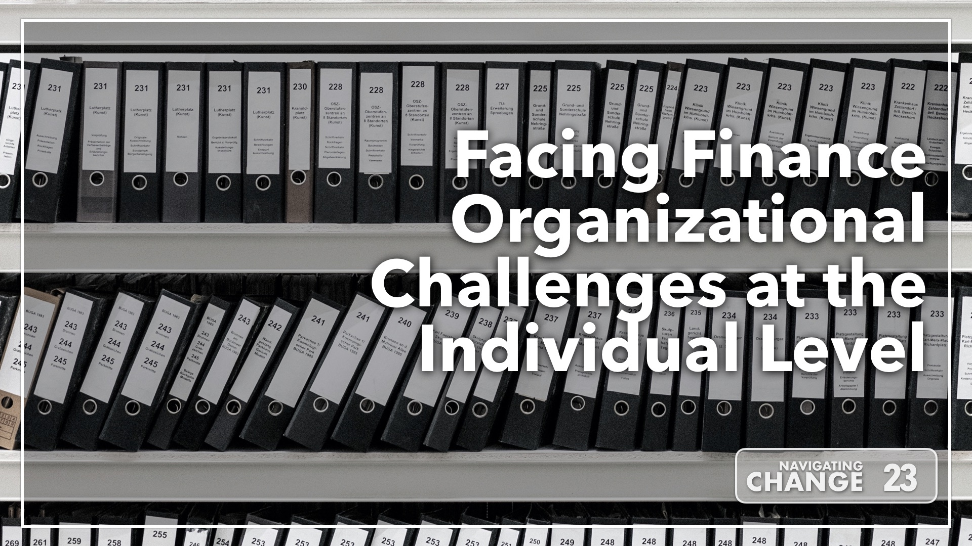 Listen to Facing Finance Organizational Challenges at the Individual Level on Navigating Change The Education Podcast