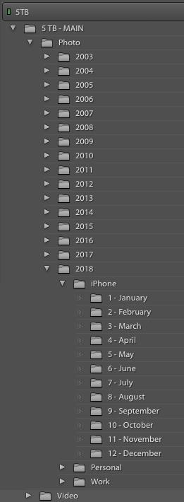 Year - iPhone1 - Jan2 - Feb3 - EtcPersonal1 - Jan2 - Feb3 - EtcWork1 - Jan2 - Feb3 - Etc