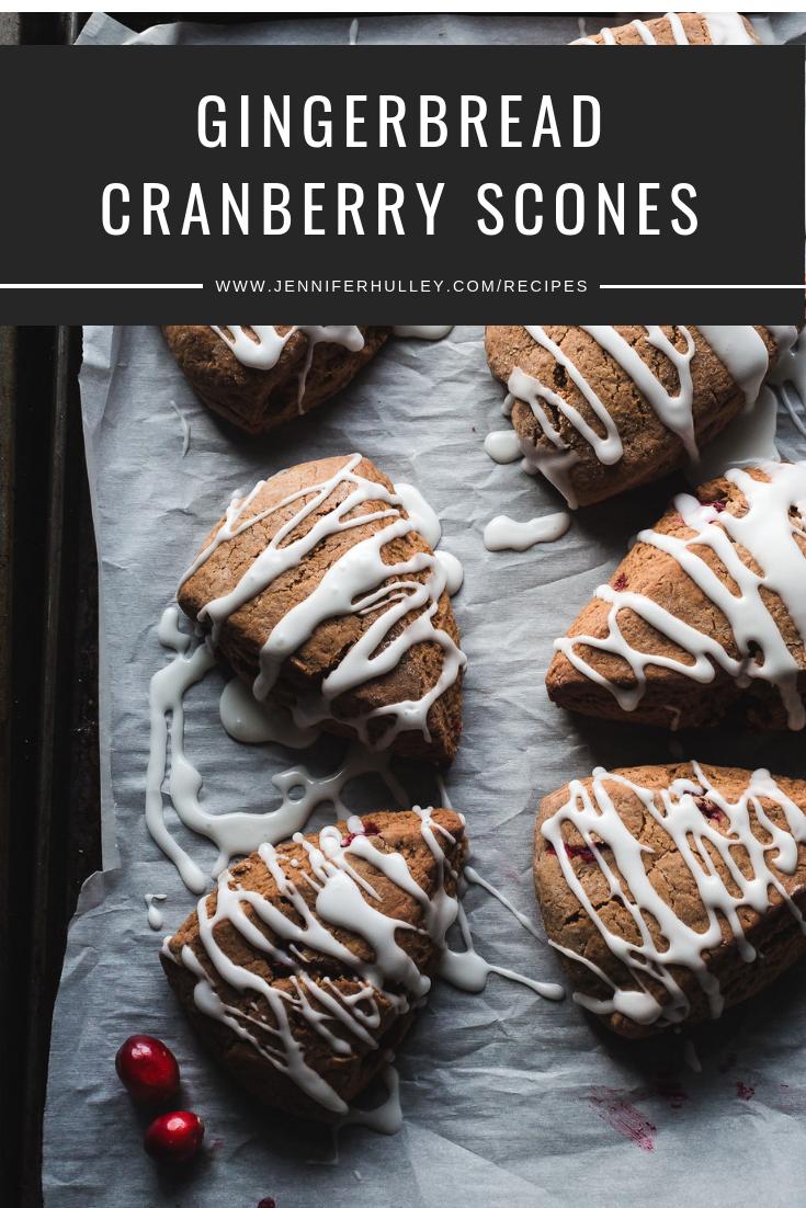 gingerbread cranberry scones recipe jennifer hulley food blog food photographer hamilton