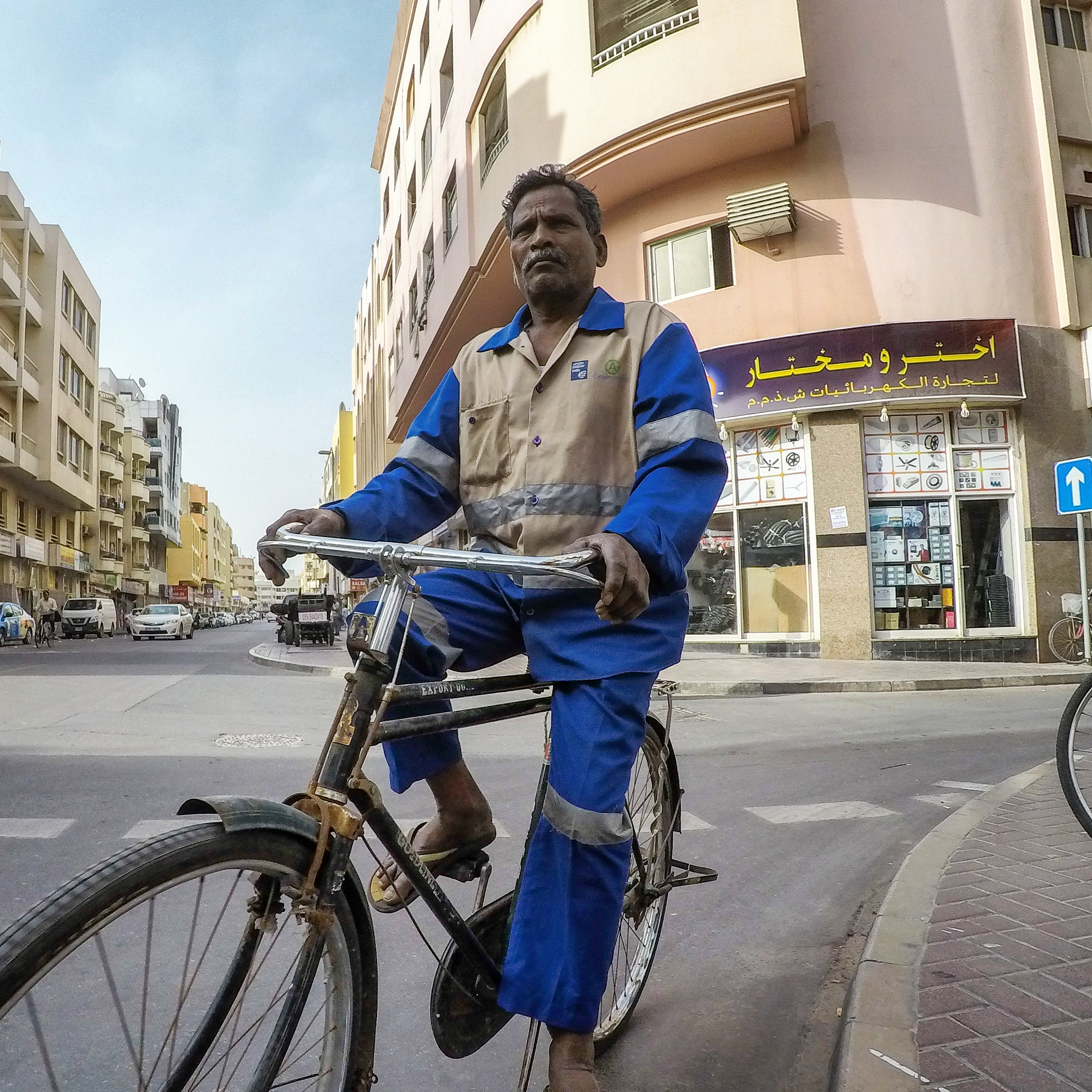 Commuting on perfect roads in Deira, Dubai UAE