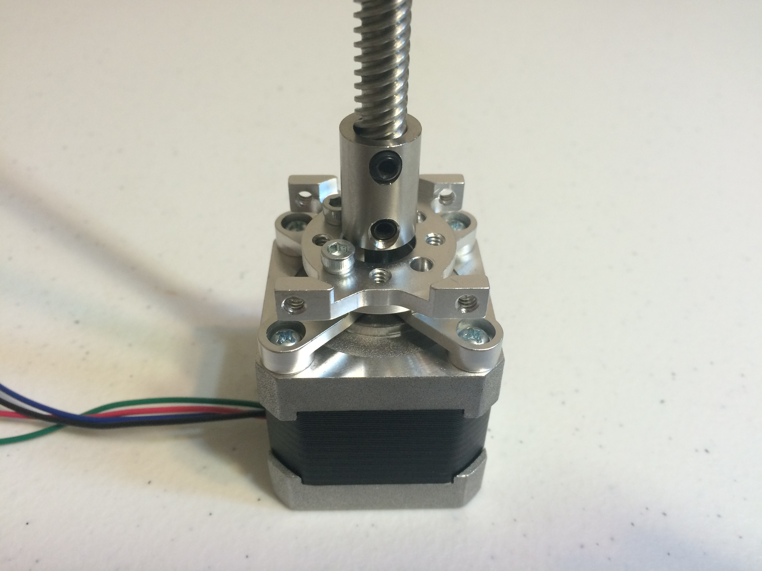 LINEAR STEPPER MOTOR WITH MOUNT.