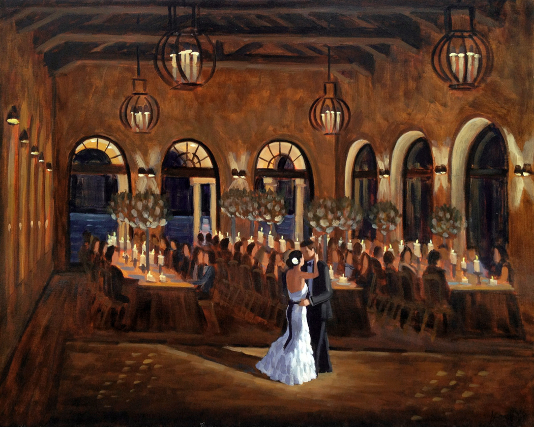 The Cloister  |  Live Wedding Painting