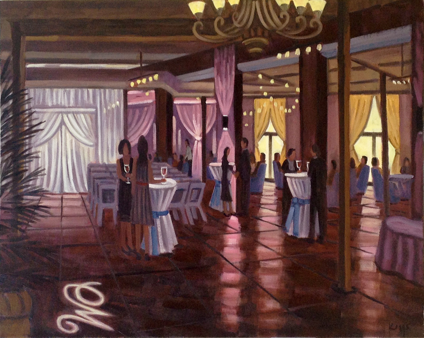 The Mill Event Hall  |  Live Event Painting