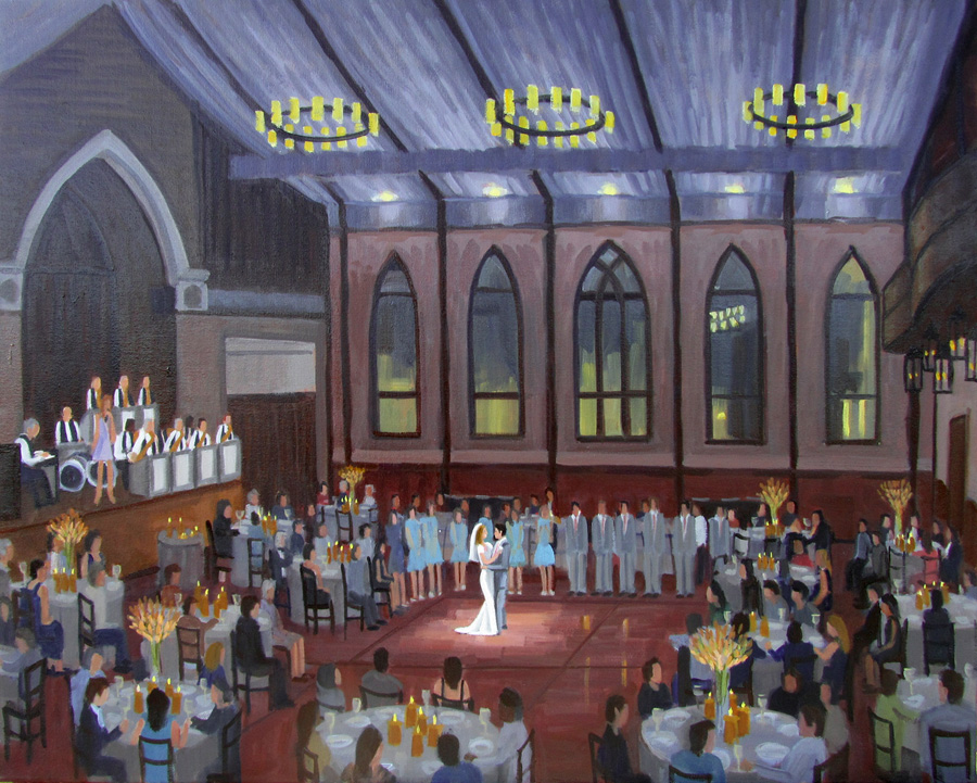 The Brooklyn Arts Center  |  Live Wedding Painting