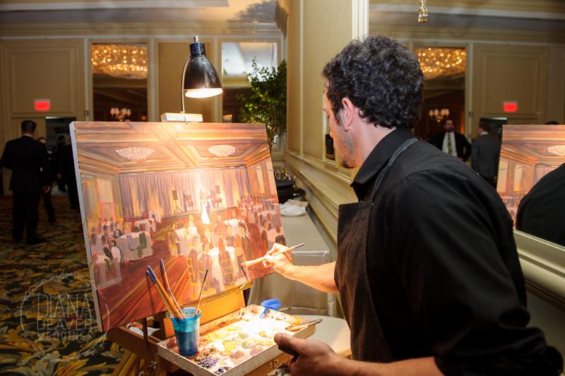 Charleston Place Hotel | Live Wedding Painting