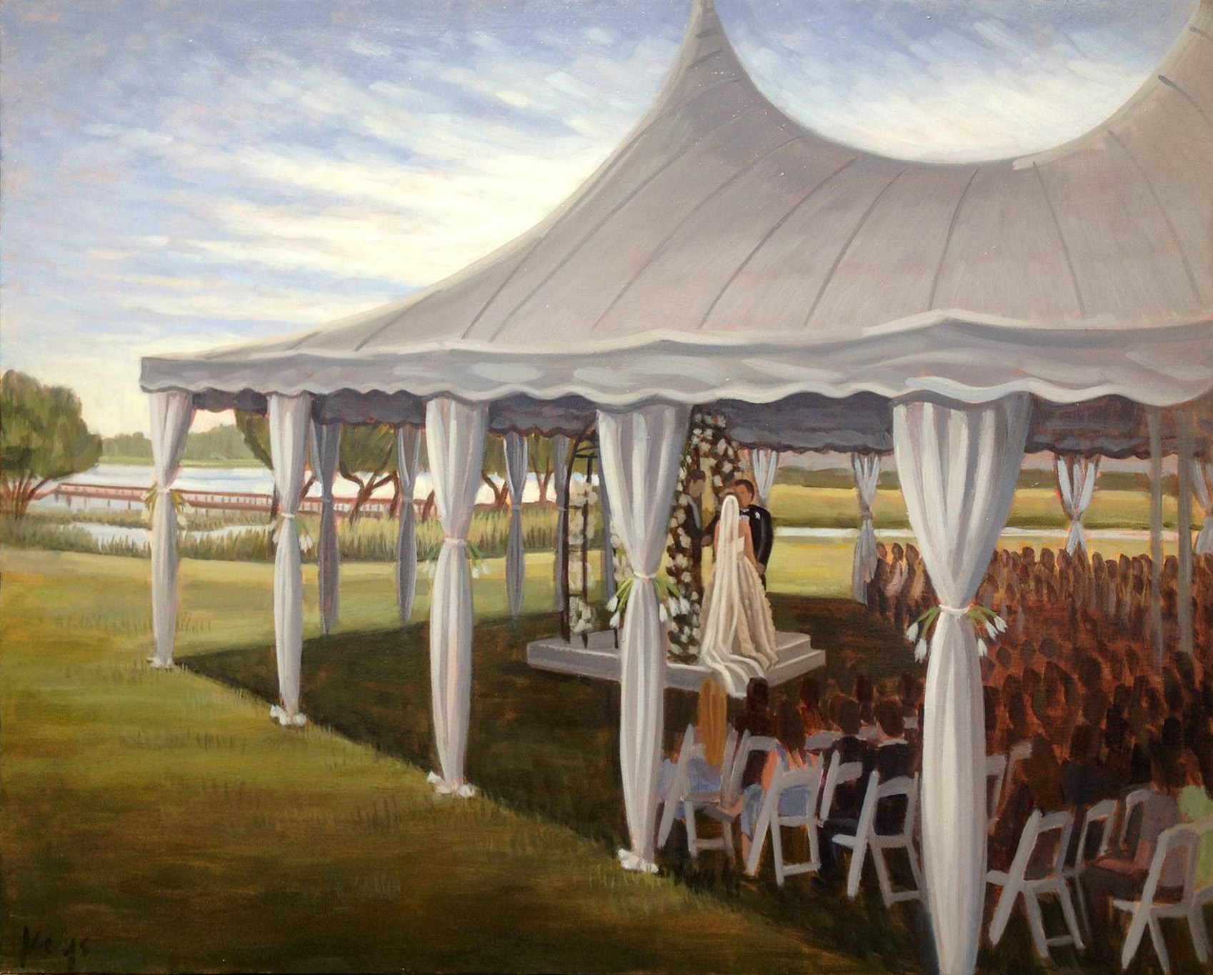 Country Club of Landfall | Live Wedding Painting