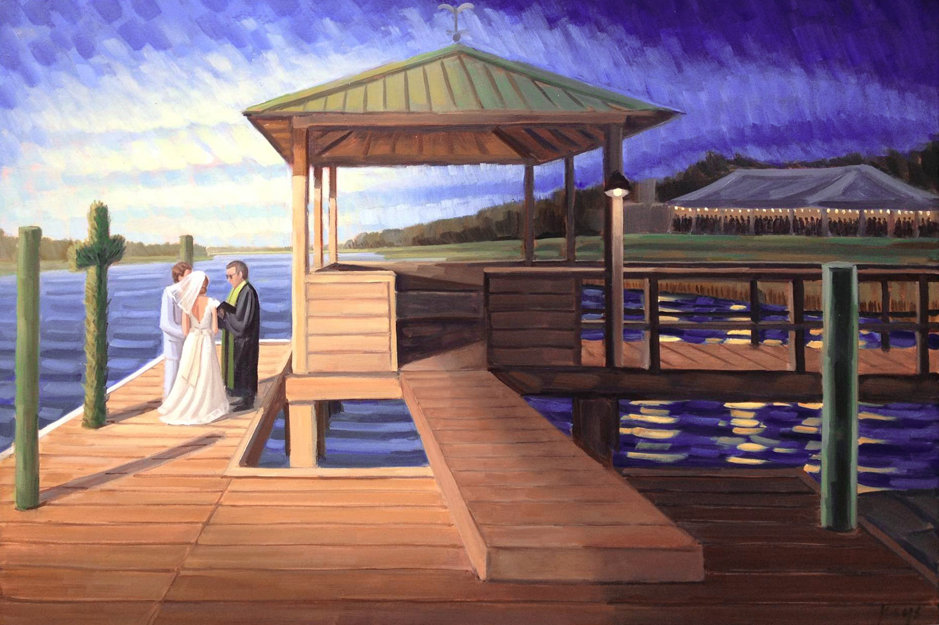 Private Residence  |  Live Wedding Painting