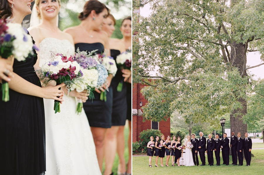 Southern Wedding Bridesmaids and Wedding Party // Wed on Canvas Live wedding painting // Chris Isham Photography