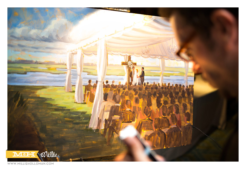 Live Event Artist // Millie Holloman Photography // Figure 8 Island, NC // Coastal Weddding