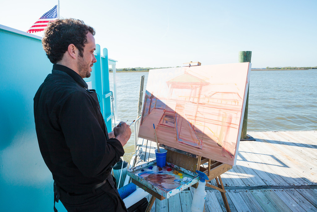 Wed on Canvas wedding Artist Ben Keys // Photo courtesy of Hunter McRae Photography