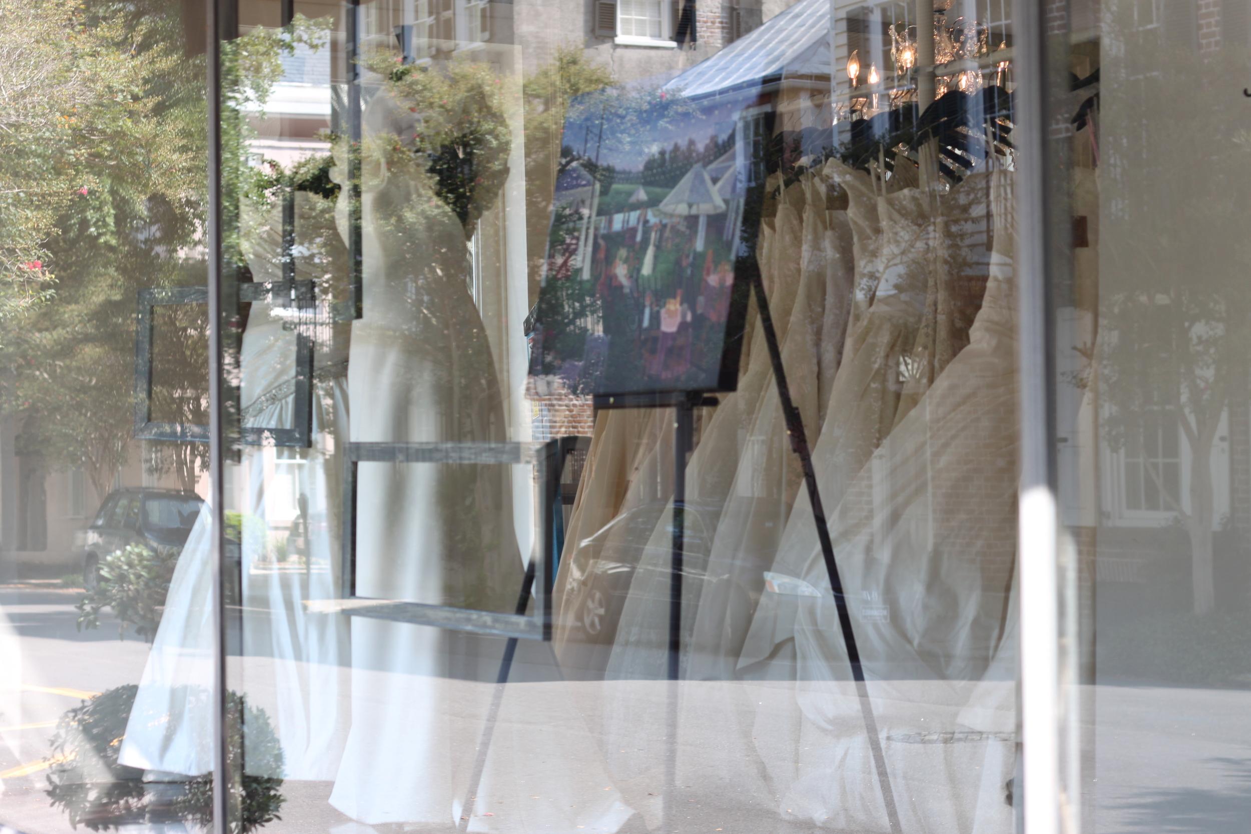Fabulous Frocks + Wed on Canvas Window Display //