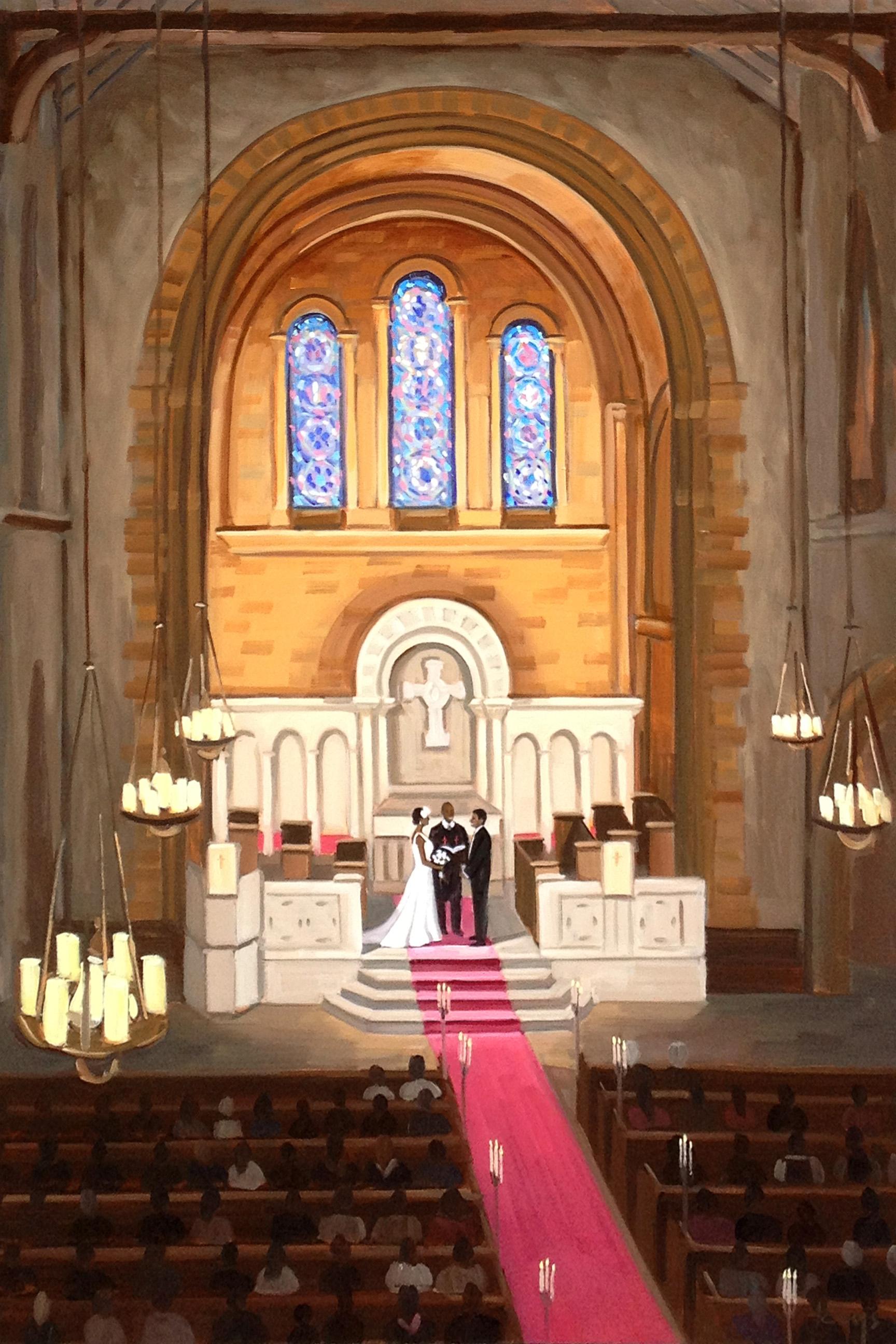 Universalist National Memorial Church  |  Live Wedding Painting