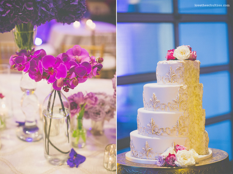 radiant-orchid-color-of-the-year-foundations-of-the-carolinas-charlotte-wedding-painting-modern-wedding-cake-pantone