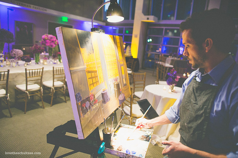 Foundation for the Carolinas | Live Wedding Painting