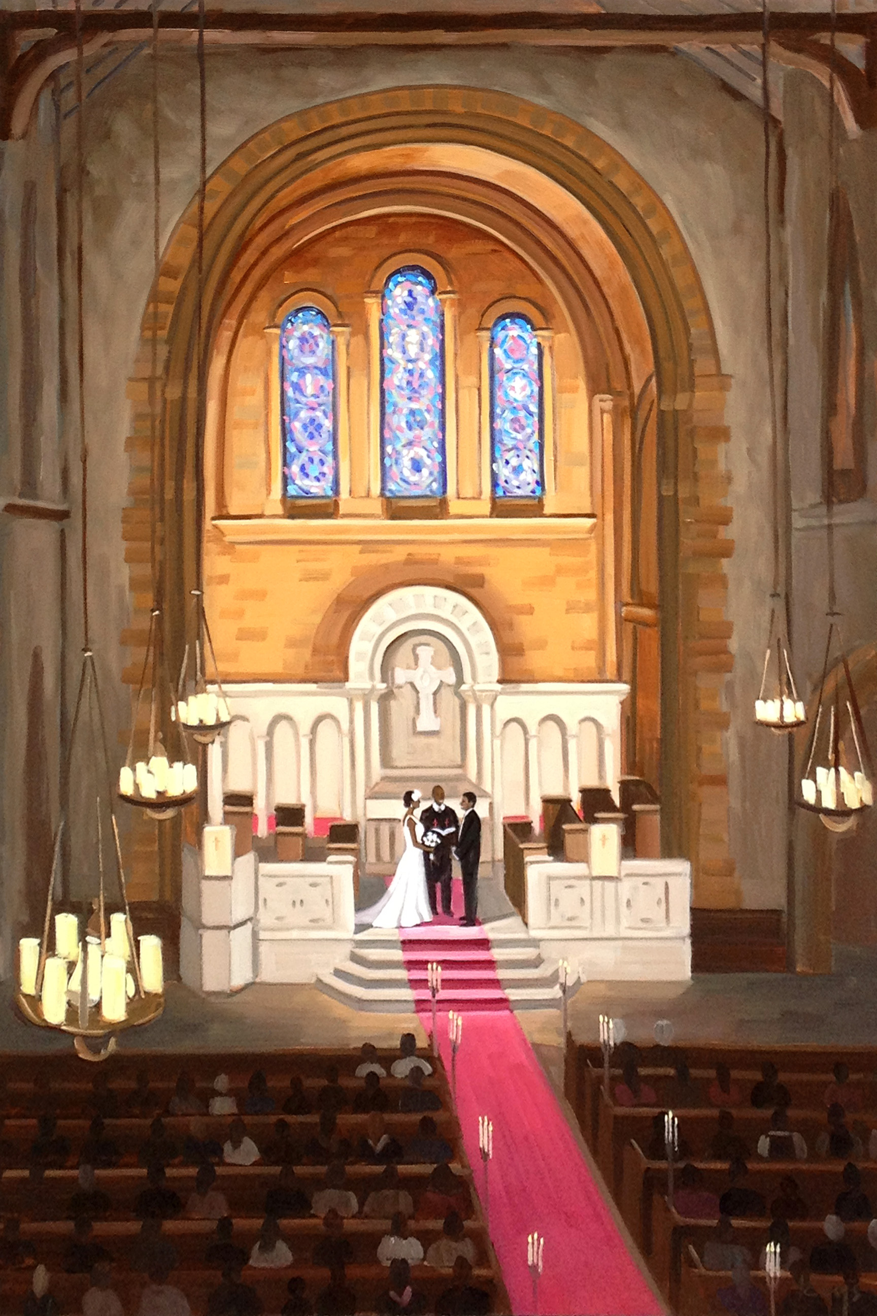 Universalist-National-Memorial-Church-Washington-DC-Live-Wedding-Painting-wedding-artist-ben-keys-of-wed-on-canvas