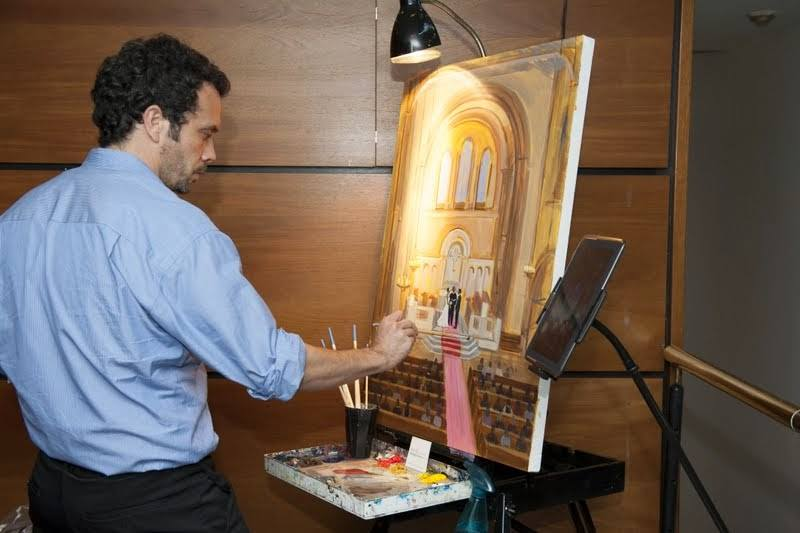 ben-keys-painting-live-wed-on-canvas-wedding-artist-washington-universalist-national-memorial-church-ceremony-painting